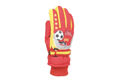 Goal Red Snow Glove
